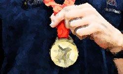 La medalla de oro es el premio al trabajo bien hecho