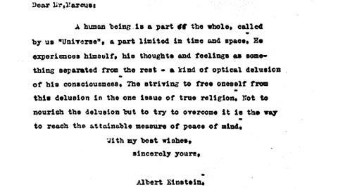 Albert Einstein y la conciencia universal