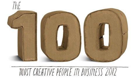 Las 100 personas más creativas de 2012 según Fast Company