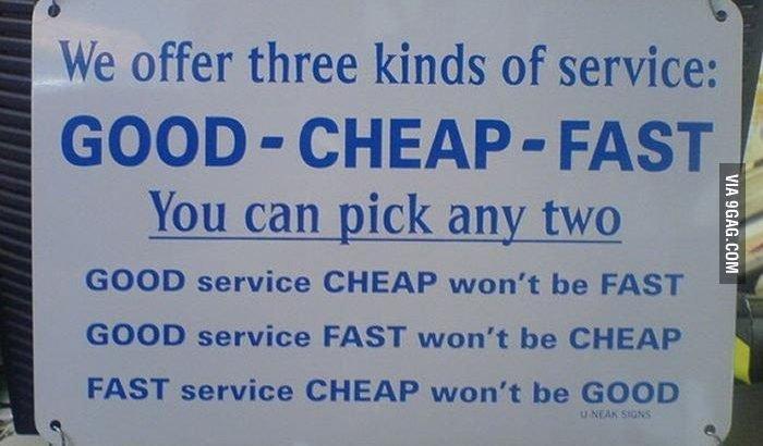 Los tres tipos de servicio