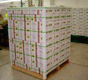 IMAGEN: un pallet lleno de cajas