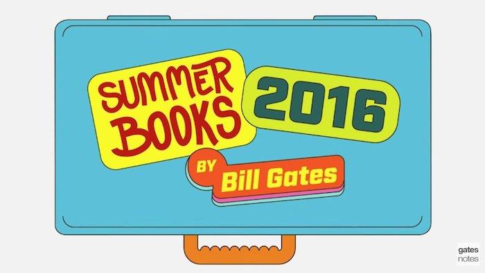 La lista de lectura para verano recomendada por Bill Gates